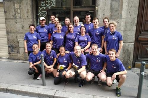 L'équipe d'Arthaud & Associés - Run in Lyon 2017