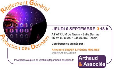 Conférence : Règlement Général sur la Protection des Données