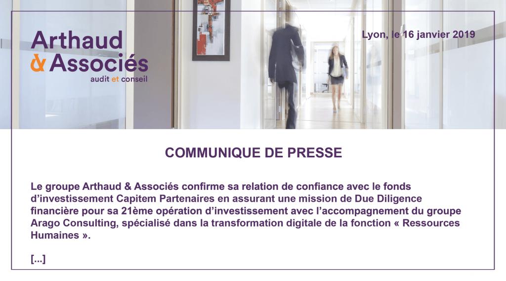 Arthaud & Associés renforce sa position de partenaire de confiance auprès du fonds d'investissement Capitem Partenaire.
